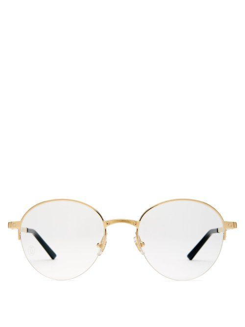 1d970feb0d443 CARTIER CARTIER EYEWEAR - SCREW STUD ROUND FRAME GLASSES - MENS - GOLD.   cartier