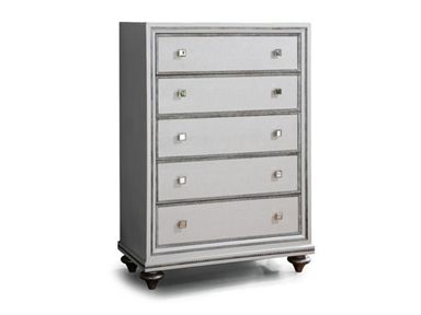 Shop for Wynwood Furniture Drawer Chest, W1902-872, and other Bedroom Chests and Dressers at Lenoir Empire Furniture in Johnson City, TN. The Monterrey Pearl group is a bold, contemporary style for those who view their bedroom as their personal sanctuary. A glamorous combination of embossed faux crocodile leather, silver framing, and mirror accents and hardware give this group a truly unique look.