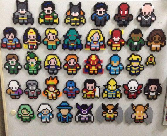 DC Comics Huge Collection of 8Bit Sprites by GothamCityCrafts, $130.00