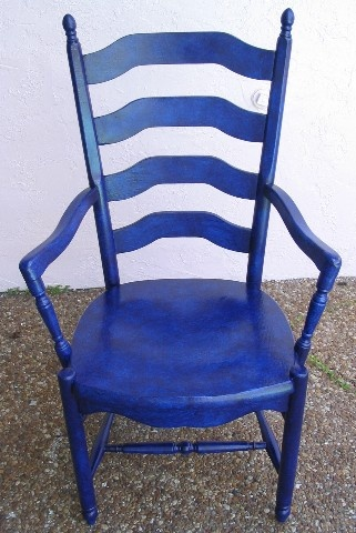 Cobalt Blue Kitchen Chair And Here Is The Final Product. With Only 9 Layers  Of A Blue/purple Glaze Mix Over The Original Turquoise Base, .