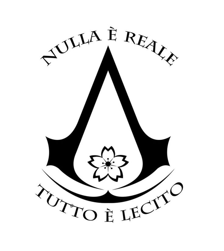 assassins creed tattoo. nothing is true. everything is permitted. would probably get it w/o the flower...