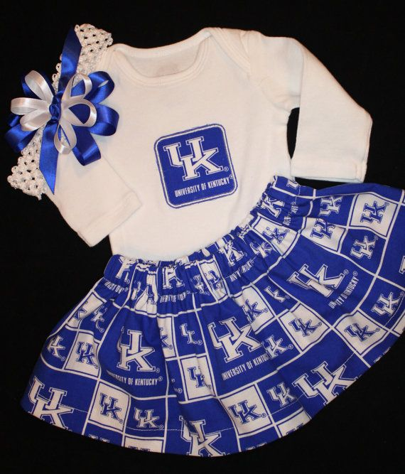 University of Kentucky girl's 3pc bodysuit set by OmaSewHappy