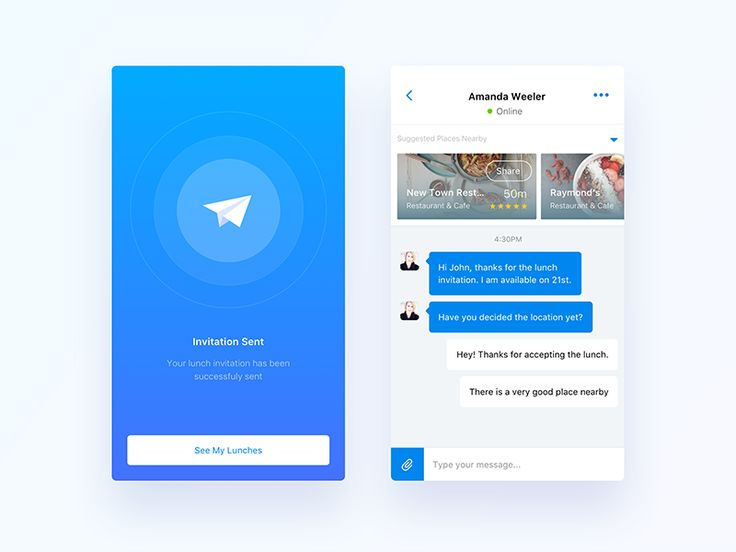 Location and Chat - UI UX Design
