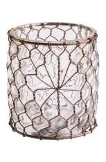 CAGE FLOWER CANDLE lykta