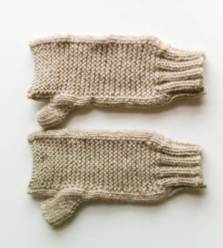 Fingerless Wool Gloves