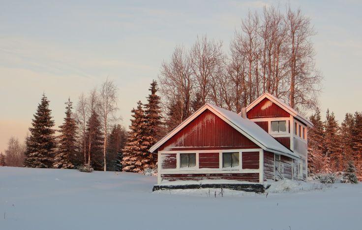Pytinki, rustic house for gathering around the fireplace at Rukakorpi Villas, Kuusamo Finland