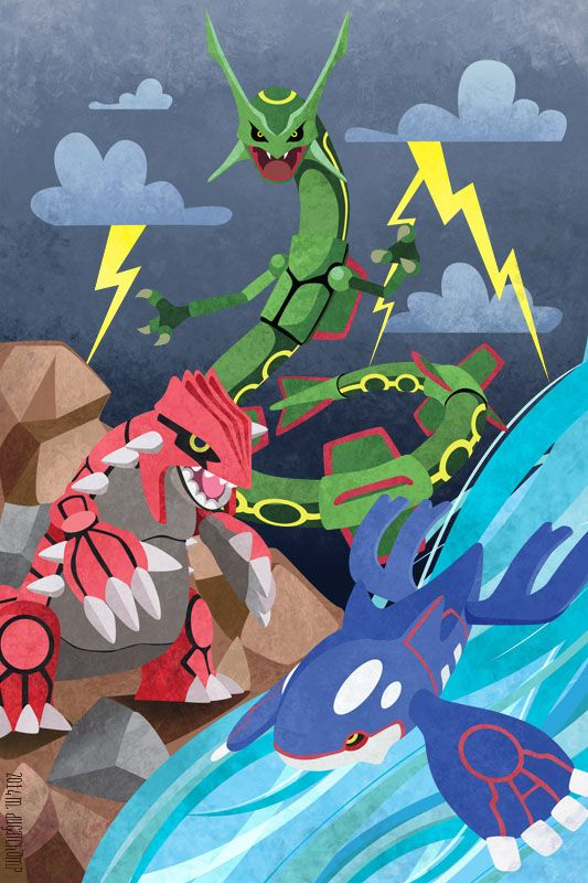 Hoenn Legendaries by m-dugarchomp.deviantart.com on @deviantART