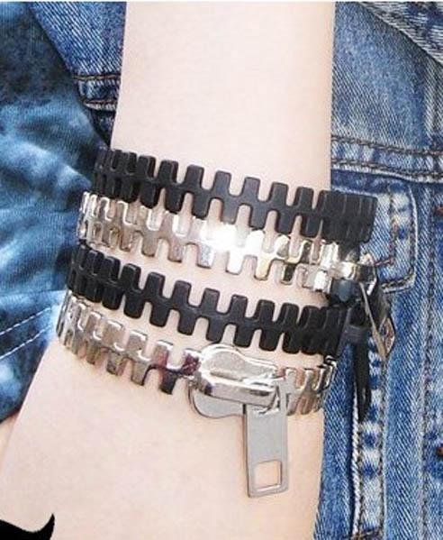 Punk Zip Bracelet