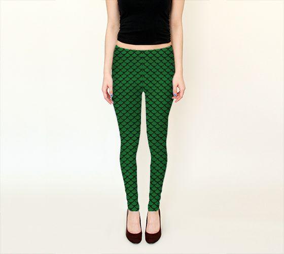Mermaid Emerald Leggings - Available Here: http://artofwhere.com/shop/product/53516