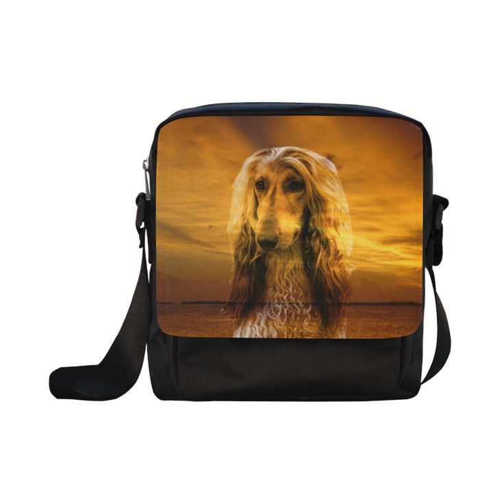 Dog Afghan Hound Crossbody Nylon Bags (Model 1633)
