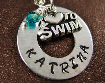 Nadador collar collar del equipo de natación nadador regalo