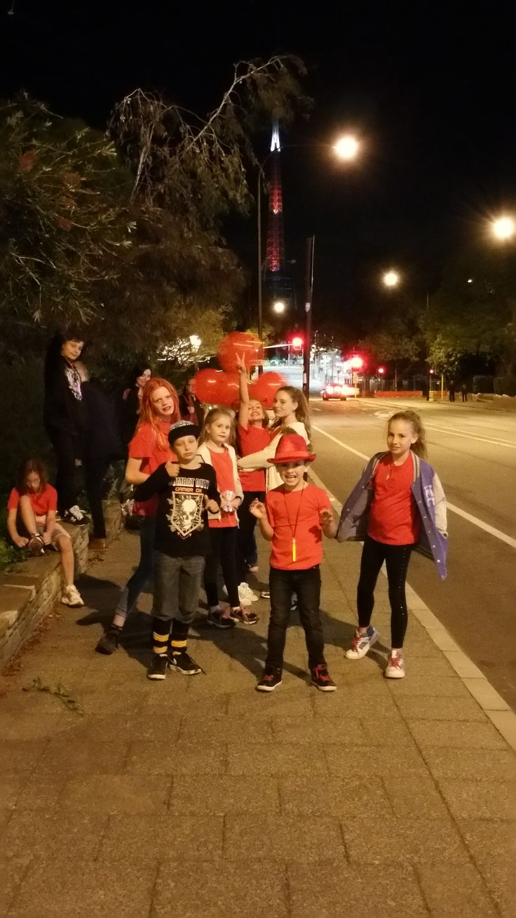 Light it Red for Dyslexia 2015 in Perth.