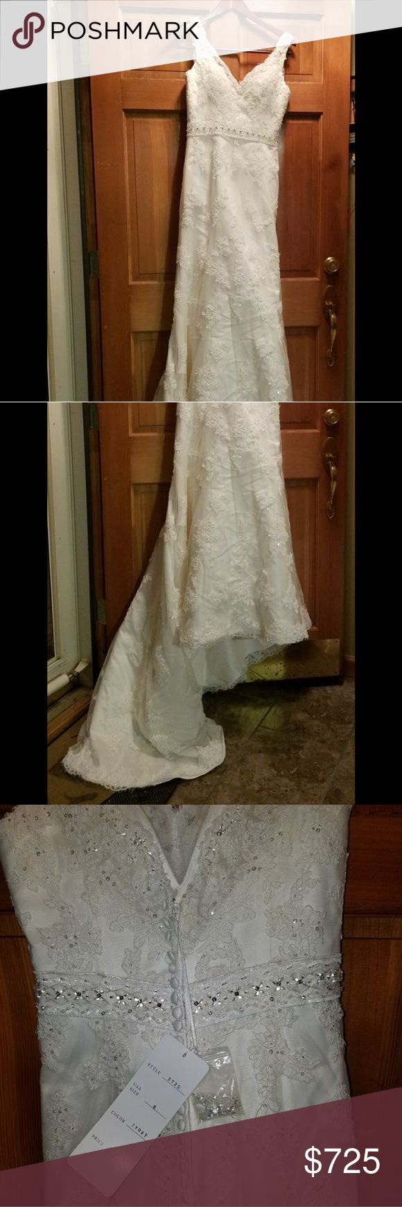Wedding dress-Never worn Never worn Sincerity Bridal wedding dress.  Style number 3735. No stains,  rips etc.  Brand new!  Size 8. Paid over $1,000 for it.  PM for details please. Sincerity Bridal Dresses Wedding