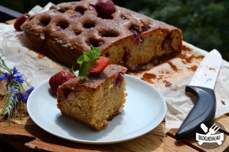 Villámgyors bögrés-epres sütemény