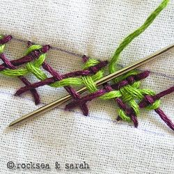 Need to learn how to do any hand stitch ever? This blog is the best stumble find ever: Sarah's Hand Embroidery Tutorials
