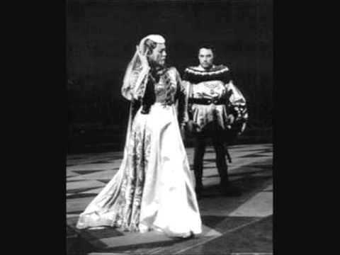 """Mario del Monaco & Renata Tebaldi """"Già nella notte densa"""" Otello 1955"""
