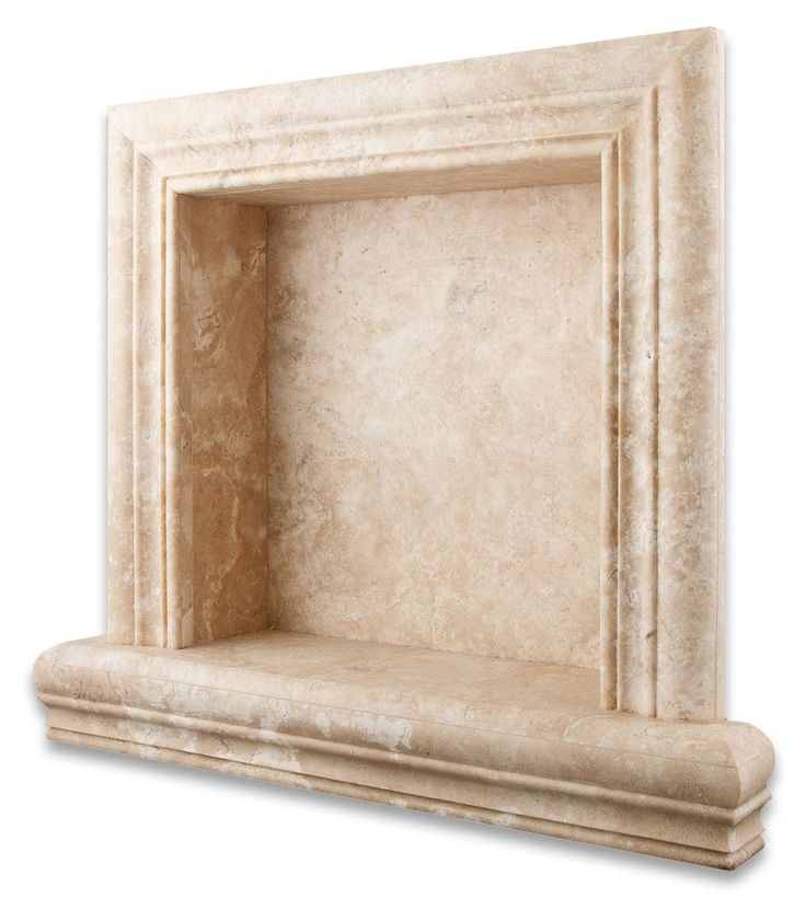 Durango Cream Travertine Hand-Made Custom Shampoo Niche / Shelf - SMALL - Honed