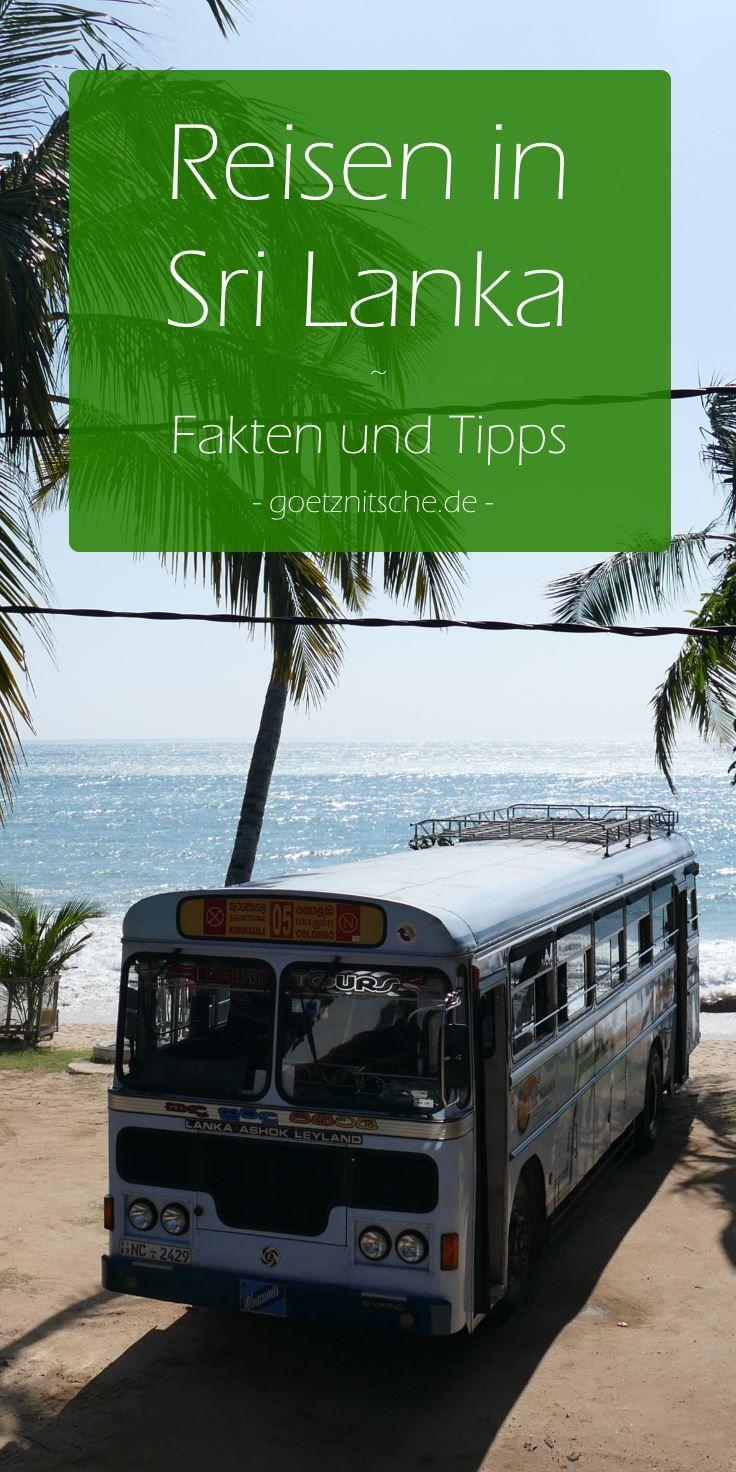 Alles was du für eine Reise durch Sri Lanka wissen musst. #srilanka #reisetipps