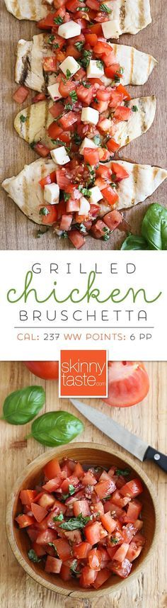 Grilled Chicken Bruschetta � a delicious light summer dish!