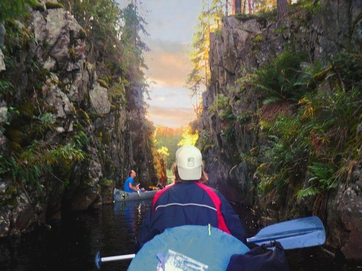 Wow dit wil ik ook zien... kanoën in Glaskogen!