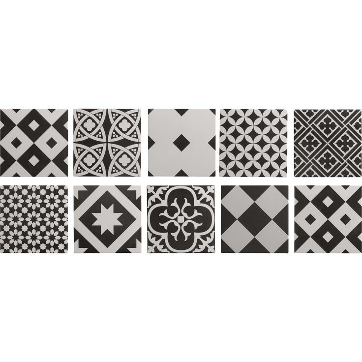 Carrelage int rieur gatsby artens en gr s noir et blanc for Decoration murale leroy merlin