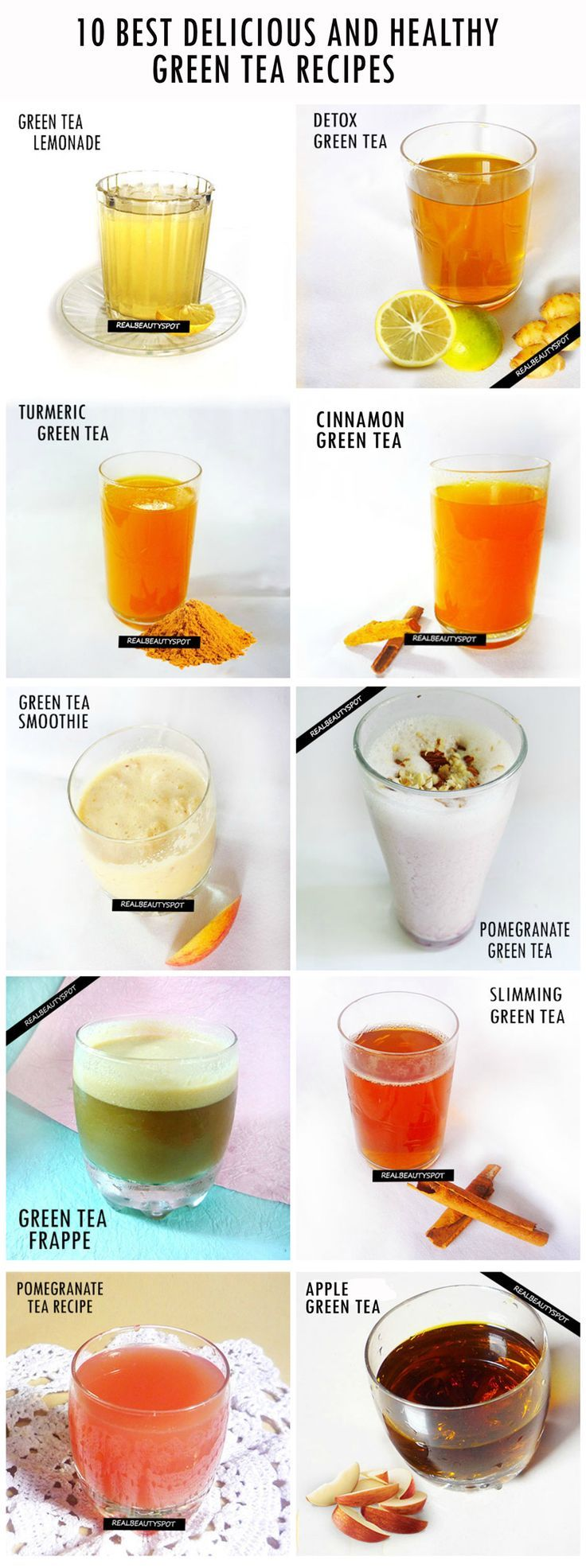 10 BEST GREEN TEA RECIPES FOR HEALTH and BEAUTY