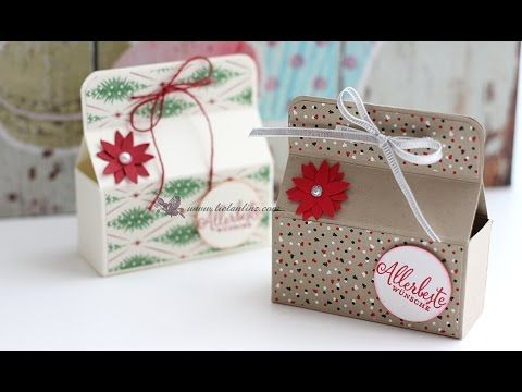 Anleitung: schnelle Mini Box   Stampin' Up! - YouTube