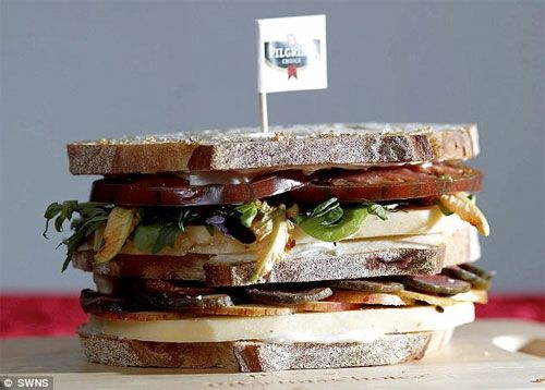 """British celebrity chef Martin Blunos recently created the world's most expensive cheese sandwich. Between the two slices of sourdough was a bespoke white truffle cheese, dressed with 100-year-old balsamic vinegar and extra virgin olive oil, """"and then layered cheese, slices of quail's egg, heirloom black tomato, epicure apple, and fresh figs."""" All of this was then topped of with edible gold dust. The entire sandwich totaled a sum of £111.95 or roughly $178"""