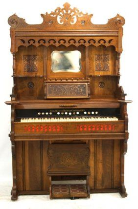 Victorian Pump Organ Highly Carved