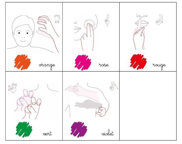 Mémo les couleurs LSF