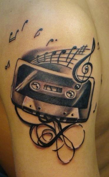 360 best dj tattoos images on pinterest music tattoos tattoo ideas and cool tattoos. Black Bedroom Furniture Sets. Home Design Ideas
