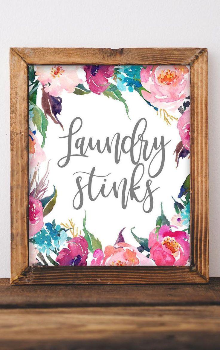 Printable Wall Art Laundry Stinks Laundry Room Decor Printable