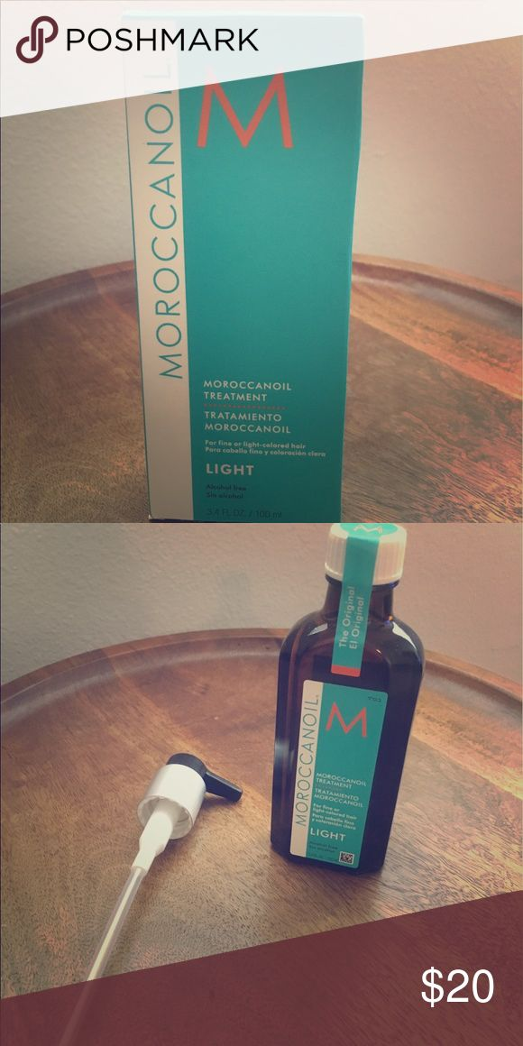 Moroccan oil light hair treatment 💎✨ Treat colored, dry, split end, dull hair without having to go to the salon 💎✨ moroccan oil Makeup