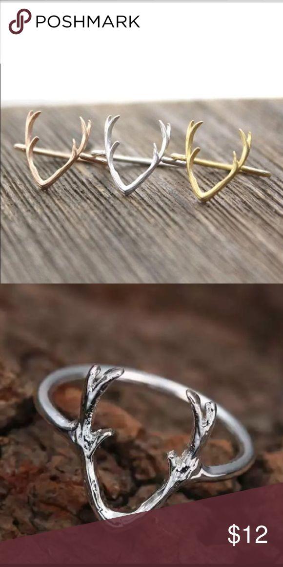 Silver deer antler ring sterling Silver deer antler ring sterling brand new various sizes Jewelry Rings