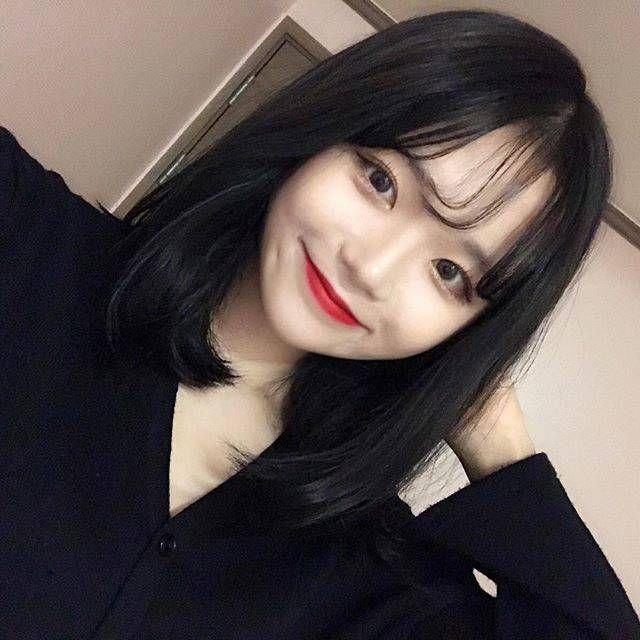 黒髪 だから 可愛い 韓国っぽヘア特集 ミディアム 黒髪