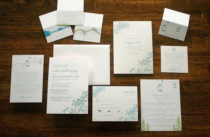 Colorado invitations. So pretty. Colorado love <3