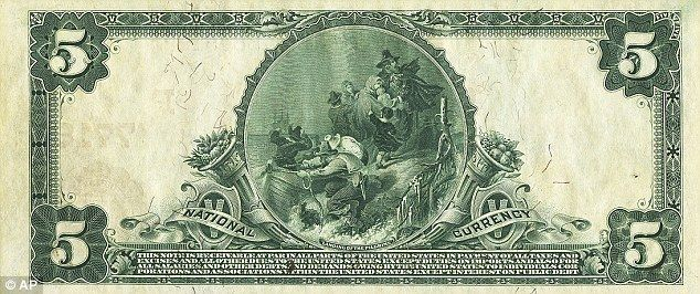 When $5 is worth $300,000¿ Rare century-old Alaska bill that was a gift to a vice-president to be auctioned | Mail Online