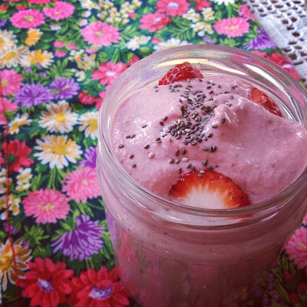 Yoghurt de frambuesa a base de germinados