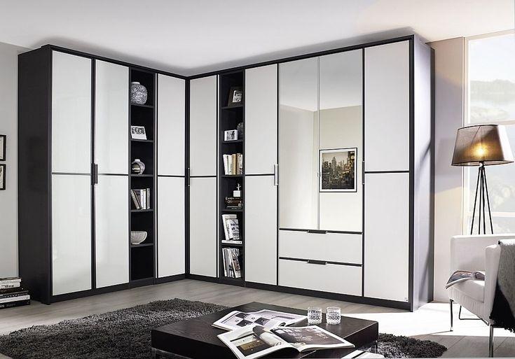 rauch essensa 8 door combi l shaped wardrobe in metallic grey