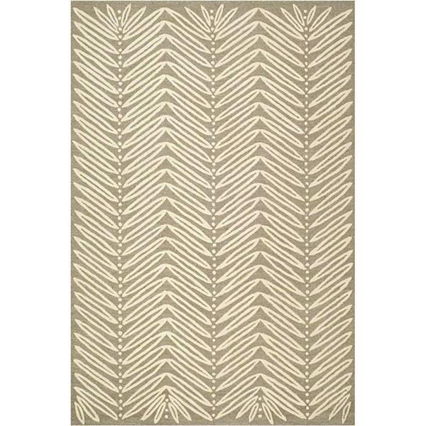 martharugs chevron leaves rectangular rug