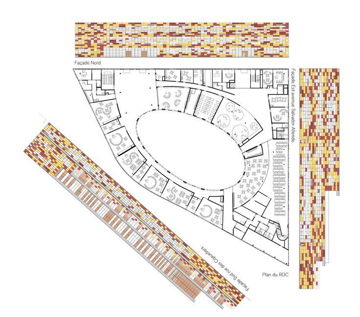 Complex School in Bobigny / Mikou Design StudioSchools Design, Studios G Valbon Schools, Schools Complex, Complex Schools, Design Studios, Mikou Studios G Valbon, Studiogvalbon Schools, Mikou Studiogvalbon, Mikou Design