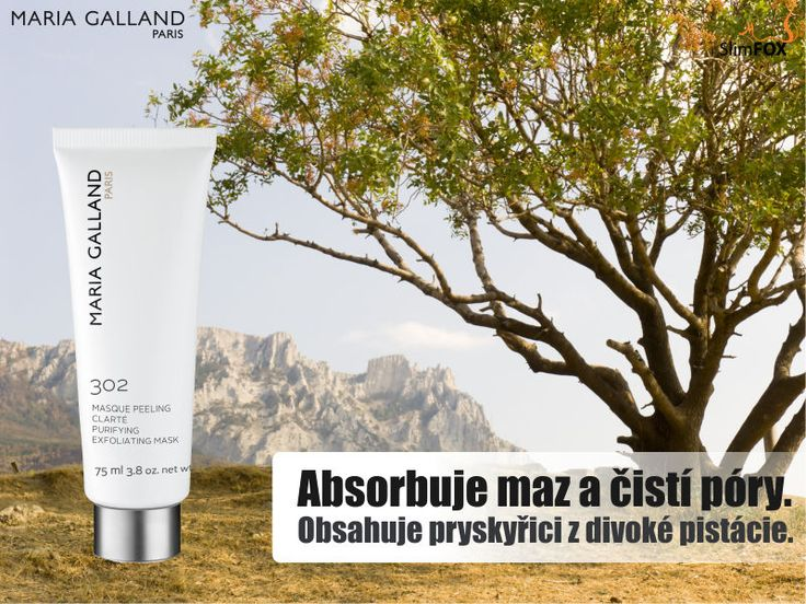 Už po prvním použití masky 302 uvidíte okamžitý výsledek, absorbuje maz, čistí a stahuje póry. #SlimFOX #MariaGalland #acne