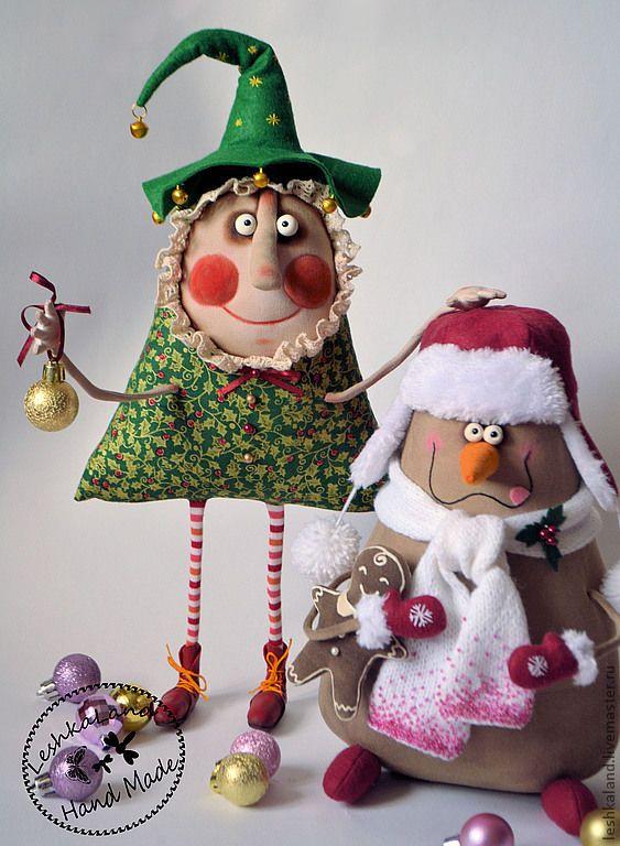 Новый Год, елка новогодняя, снеговик, авторская игрушка  http://www.livemaster.ru/leshkaland?sortitems=0&v=0&from=40   Лена Лешка
