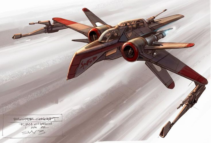 ARC 170 - Aggressive ReConnaissance-170 starfighter ~Concept Art By Ryan Church