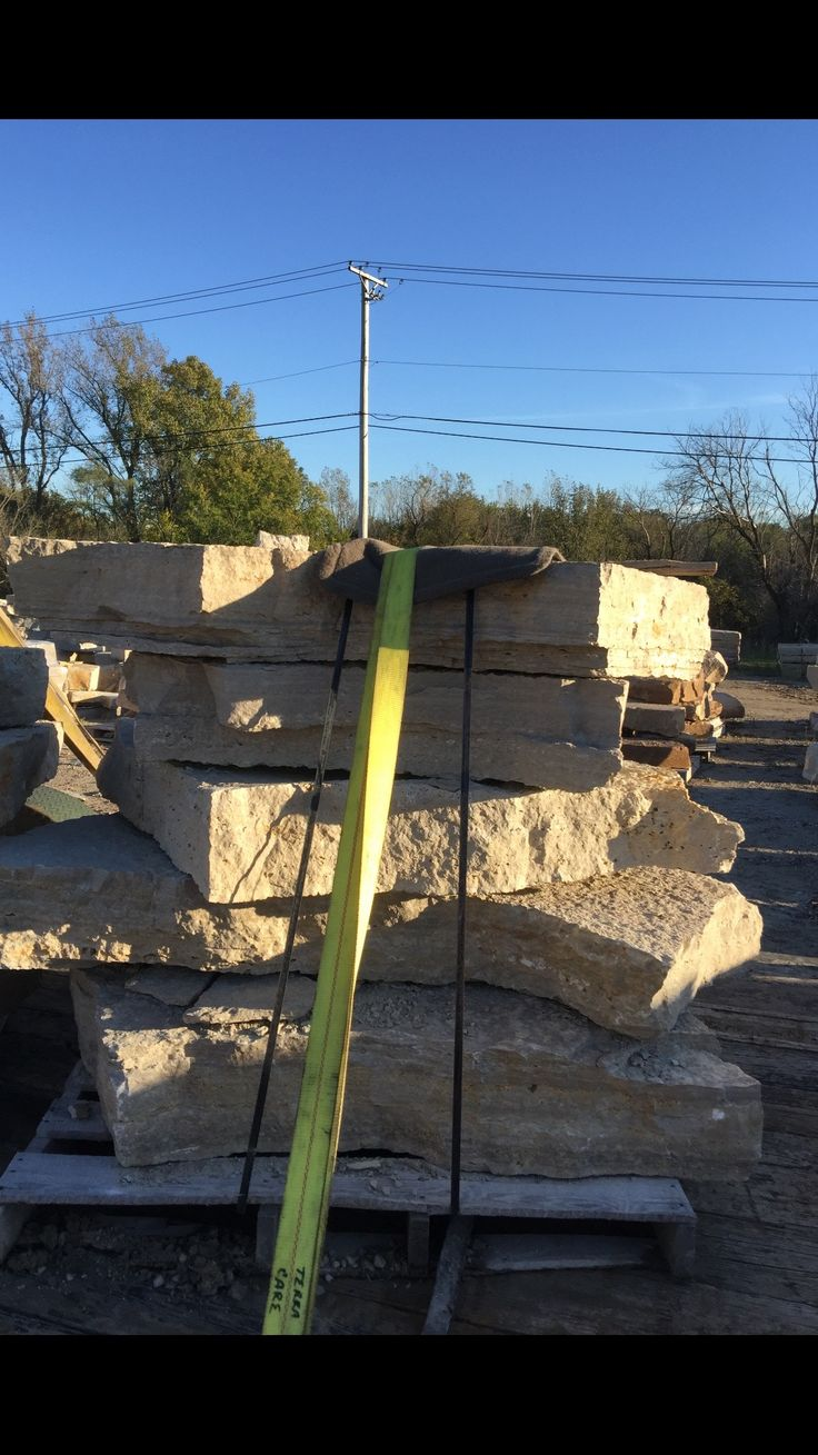 Ok loading the limestone on the trailer... this should be fun... 12 tons of stone...