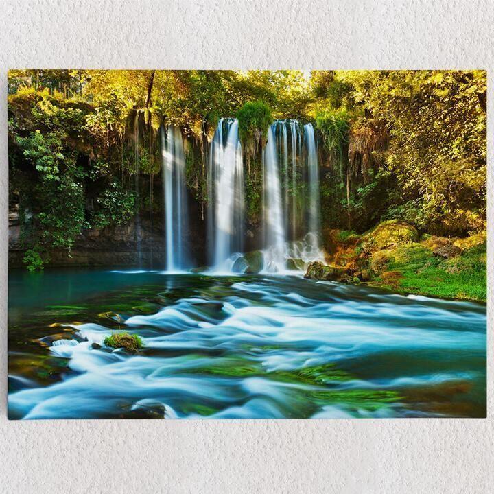 deko leinwand duden wasserfall antalya schone wasserfalle 90x60 gestalten mit fotos