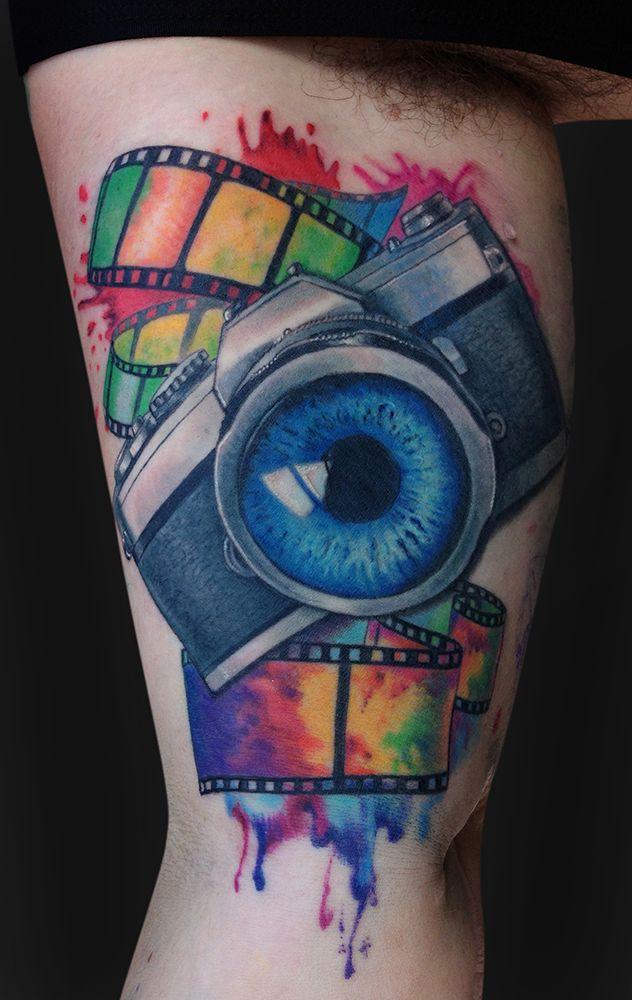 camera tattoo - Hledat Googlem                                                                                                                                                                                 More