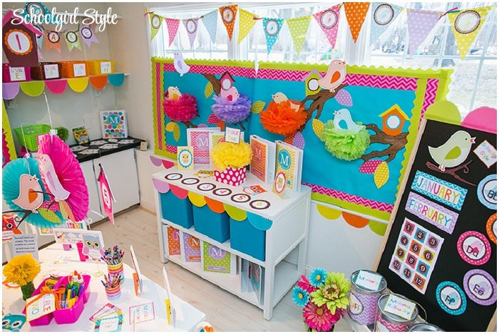 Schoolgirl Style's Owl & Bird Classroom Theme is perfect for spring!