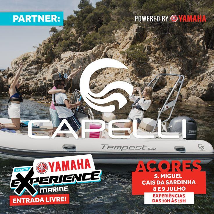 Os barcos Capelli não podiam faltar aos Açores! No Yamaha Experience em Ponta Delgada com o apoio da Portinauta - Grupo Angel Pilot.  #yamaha #yamahamotor #yamahamarine #mundoyamahamarine #motorforadebordayamaha #yamahaexperience #eventoyamaha #caisdasardinha #açores #atlântico #pontadelgada #ilhadesãomiguel #eventogratuito #entradalivre #capelli #barcocapelli #capelliboats #capellipoweredbyyamaha #testdrivecapelli #capellipby