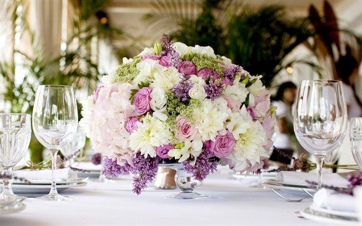 lilac, rose, freesia, chrysanthemum, wedding flowers, beautiful flowers